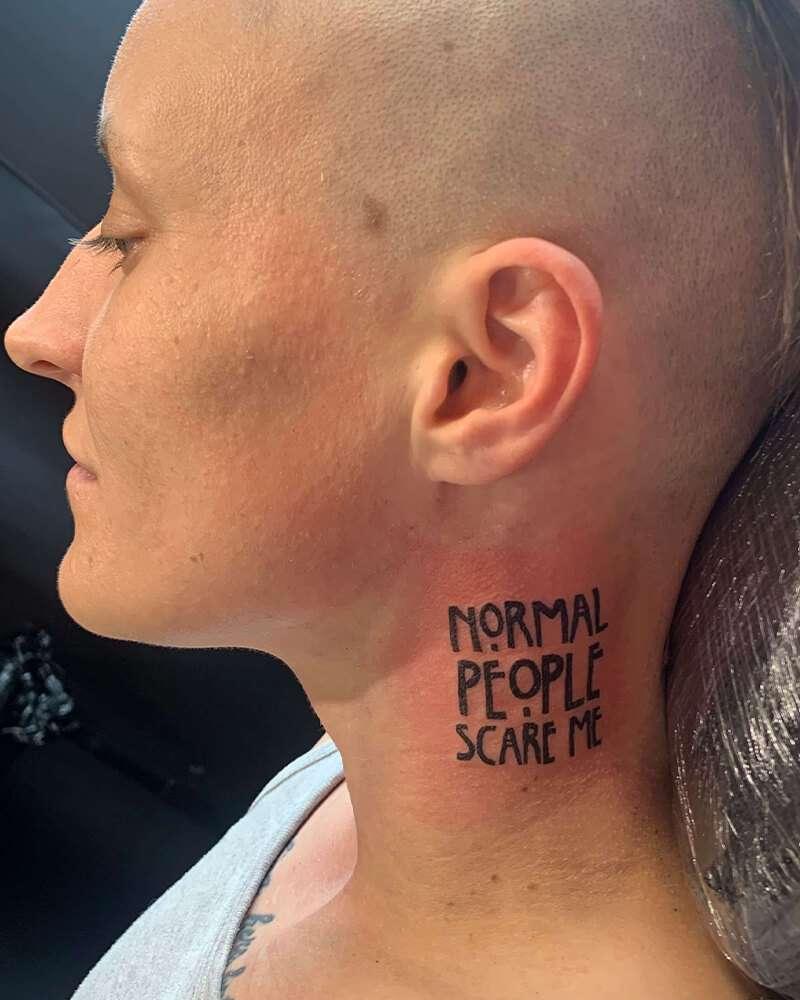 Schrift Tattoos